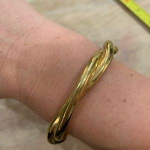 Twisted gold cuff